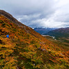Storm Clouds and Fall Color in Patagonia, Argentina