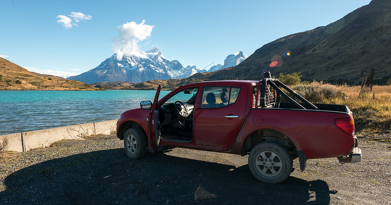 After sleeping in a tent for a month, it was time to switch things up with a 4X4 - Patagonia, March 2015