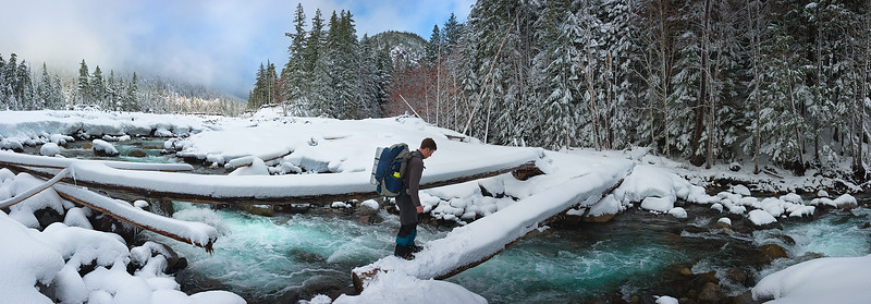 Backpacking in Mount Rainier's Nisqually River Valley - January 2016
