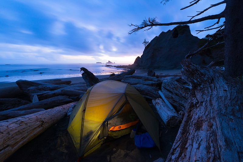 Just After Sunset on the Pacific Coast of Washington State - Best Place in the World!