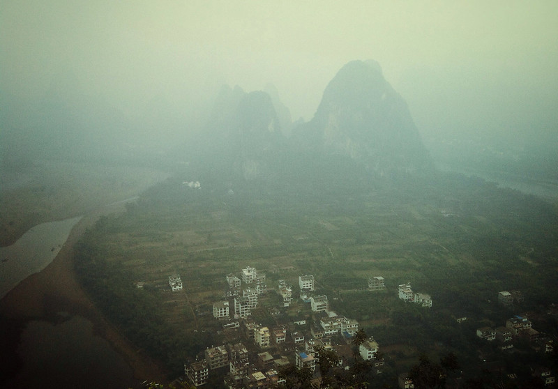 View from Lao Zhai Hill in XingPing