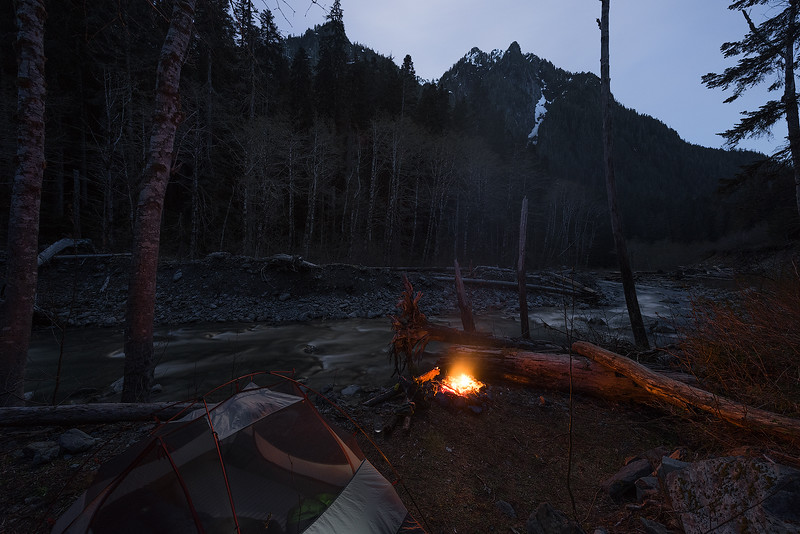 Camping on the Quinault River - Washington
