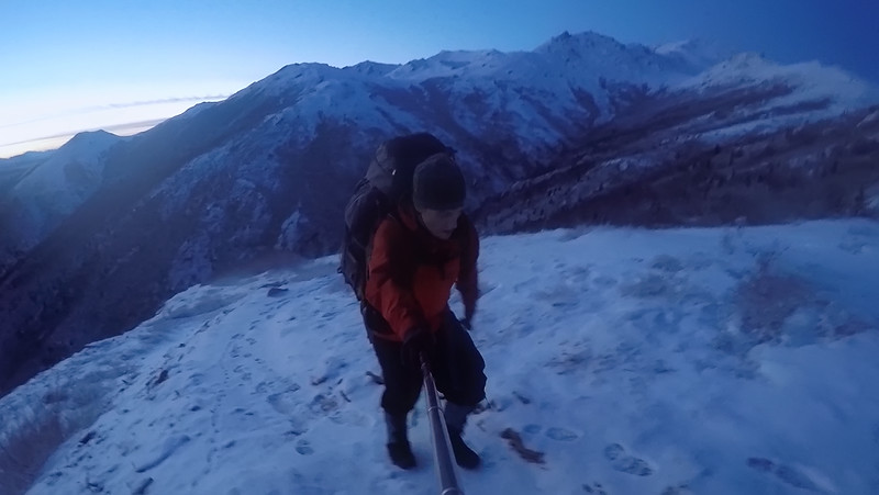 Hiking at Twilight in Denali National Park, Alaska - November 2014