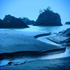 A secluded beach in S. Oregon an hour or so before sunrise