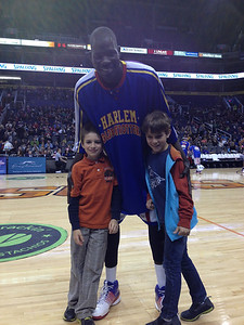 Max and Alex at Harlem  Globetrotters