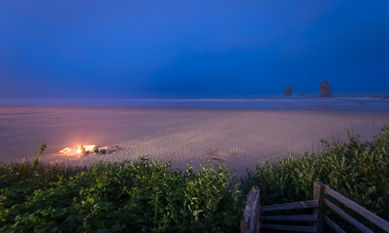 Campfires @ Cannon Beach Oregon