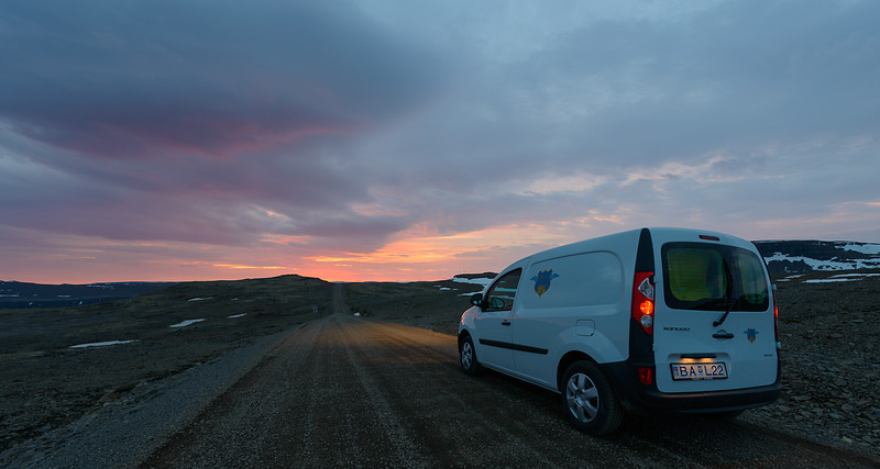 Sunset in Iceland's West Fjords