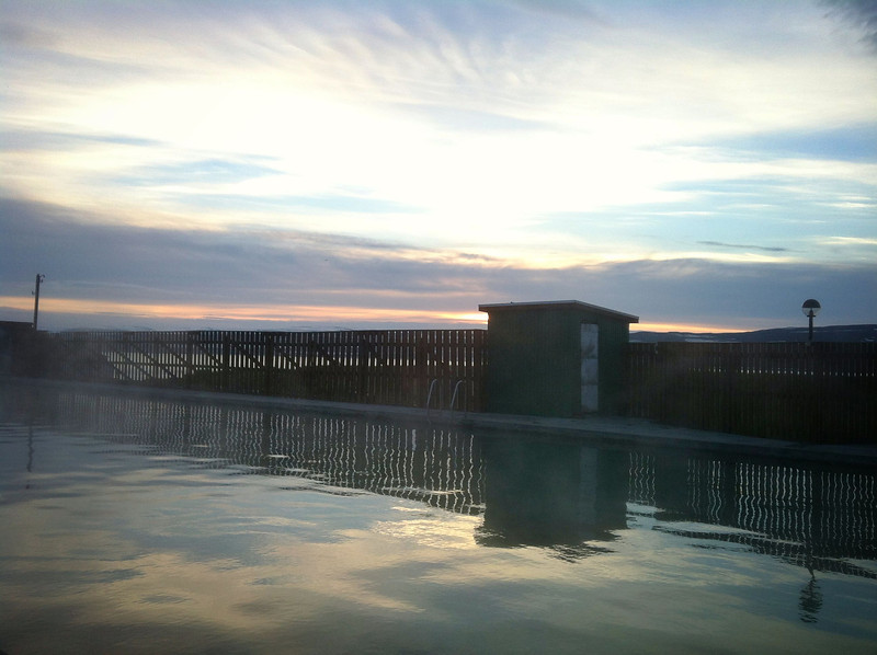 We took a dip in this awesome hotspring/pool located deep in the west Fjords of Iceland. No better way to watch the sun rise:)
