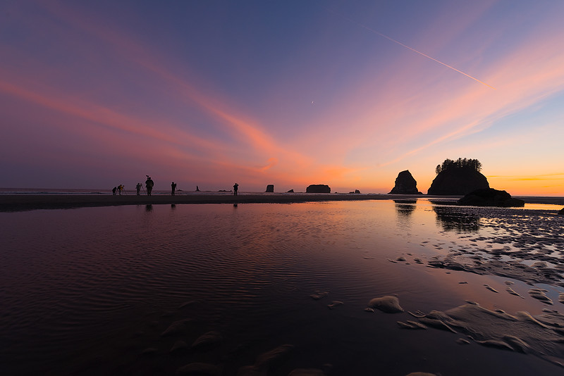Shooting Sunset on the Pacific Coast of Olympic National Park in Washington State - Night Skies of the Pacific Northwest Tour, June 2015