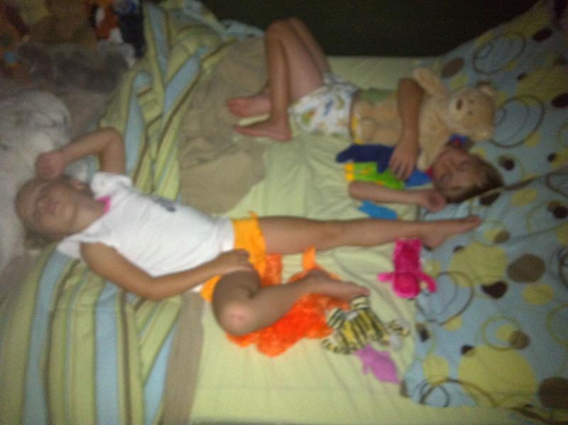 Sleeping munchkins.