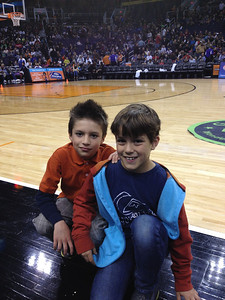 Cool dudes Max and Alex at the Globetrotters