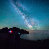 Shooting the Milky Way with Some Night Skies of the Pacific Northwest Workshop & Tour Students on the Washington Coast