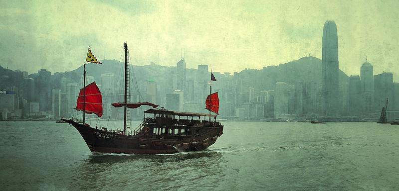Testing out my Nexus 10 in Hong Kong.