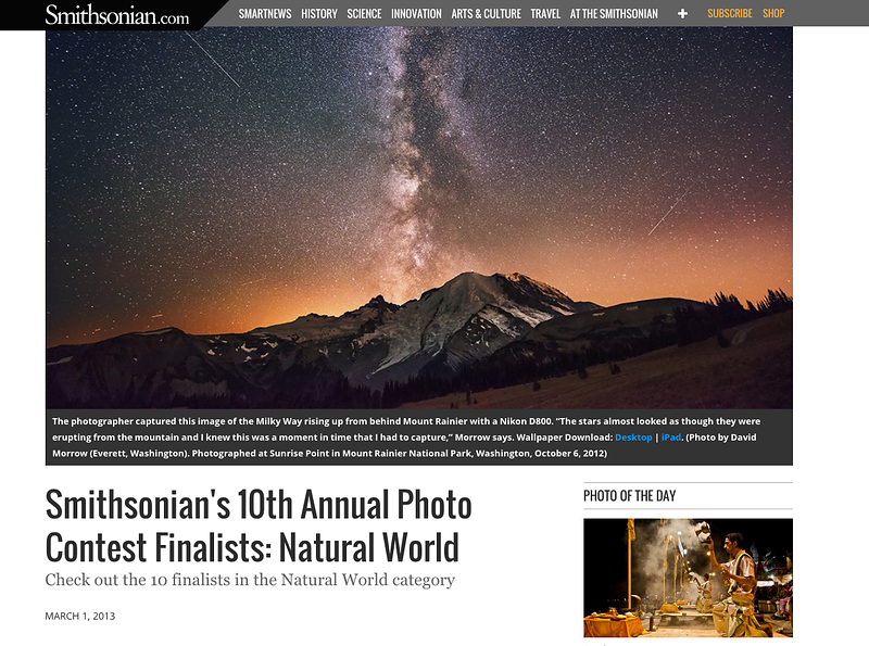 Smithsonian Cover - Winner of the 2013 Natural World Photography Contest