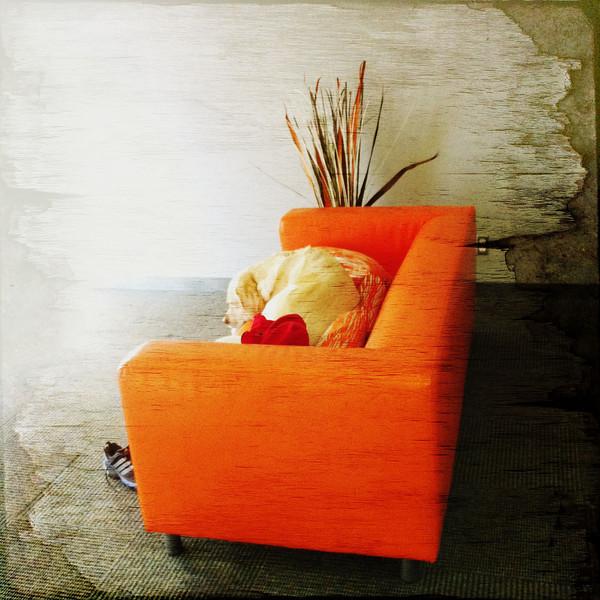 Jedi orange couch