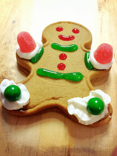 Merry Christmas! A gingerbread man for Elliot, created by yours truly at the SmugMug Christmas Extravaganza.
