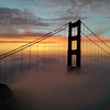 Beautiful sunrise fog over San Francisco