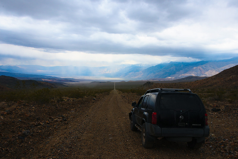 Driving into the Saline Valley - Death Valley, California