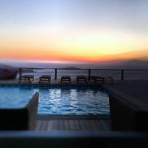 View from Tharroe of Mykonos