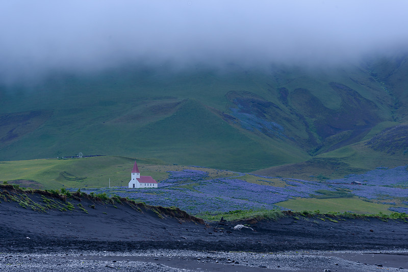 Early morning fog - Vik, Iceland