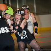 "Terminal City rollers Girls ""takin a hit"""