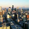 From the top of the Space Needle. Great place to shoot