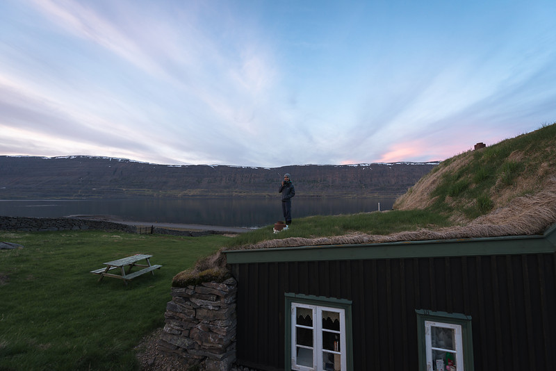 Meghan hanging out on some Icelandic Houses