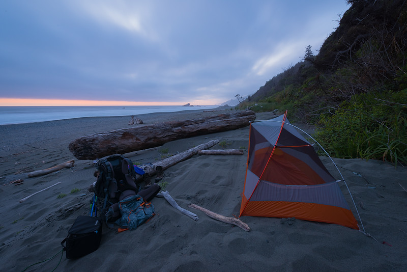 Just After Sunset on the Northern California Coast of Redwood National Park