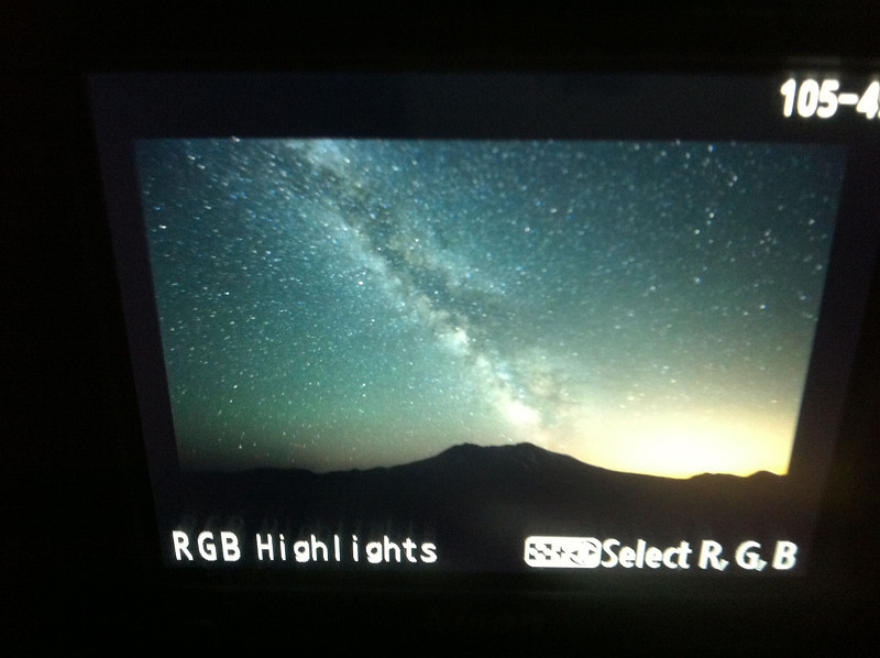 And that looks like the Milky Way over Mount St. Helens. Amazing night with some good friends.