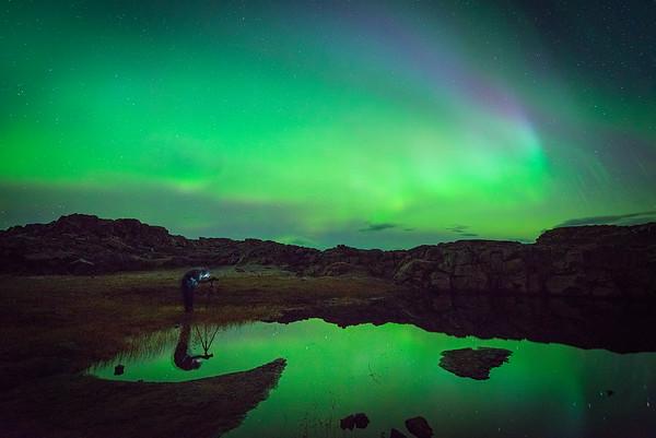 Paul Weeks Shooting the Northern Lights in Iceland
