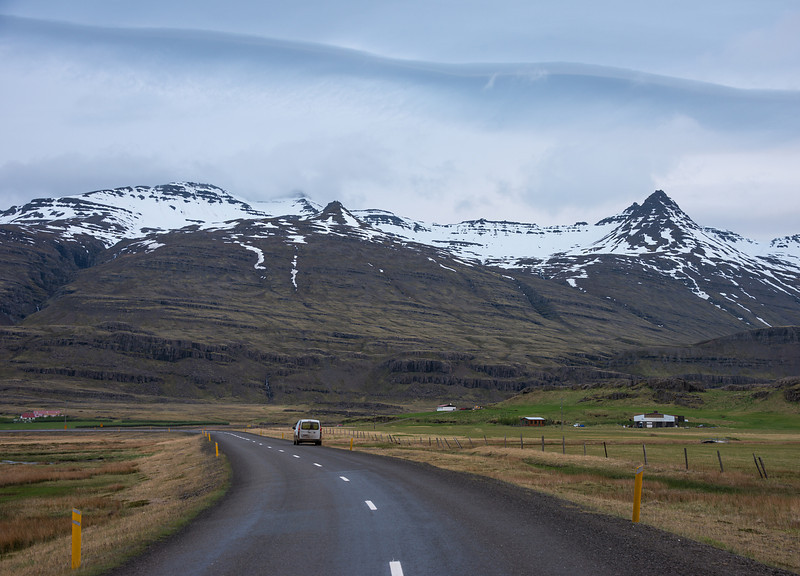 Adventures in Iceland. That's our camper van parked in the road...