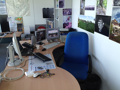 My workspace at RTL house