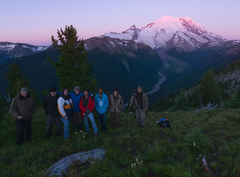 July 2014 Star Photography Workshop Group - Mount Rainier National Park