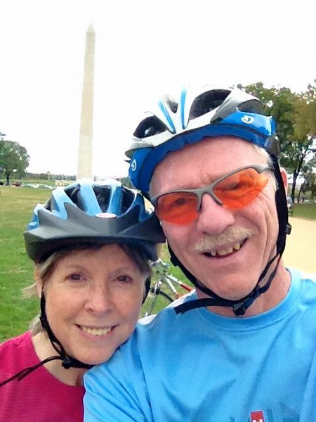 Bike ride on the mall