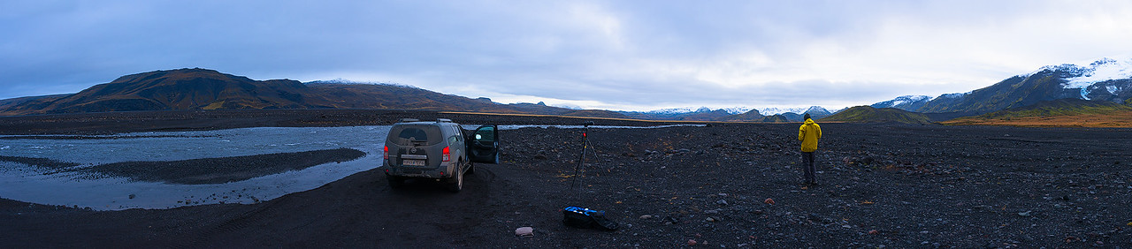 Fording Rivers into Thorsmork - Iceland - October 2015