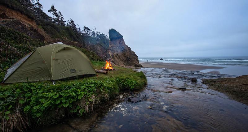 My top secret camping location on the Oregon Coast