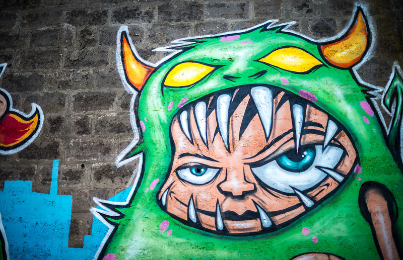 Really cool wall art in Iceland