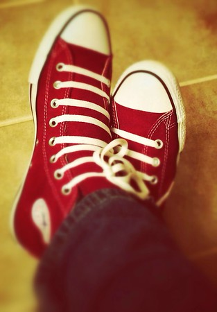 iPhonography  Loving my new Chucks. :)