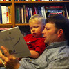 "Dad reading the hilarious ""Little Pea"" to a sick little P"