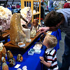 Tar Heel Rock & Mineral show with my boys. My mom's dad would like their interest in rocks!