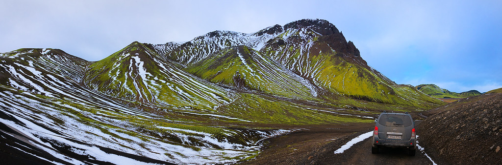 On the Road in Landmannalaugar Iceland - October 2015