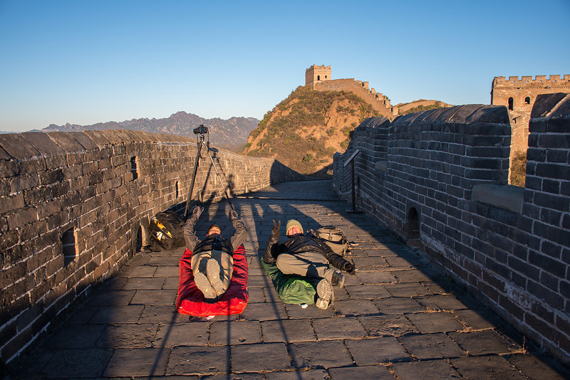 Barely survived a night of sleeping/freezing on the great wall in -2 Degree Celsius temps. Got some nice Milky Way shots tho:)