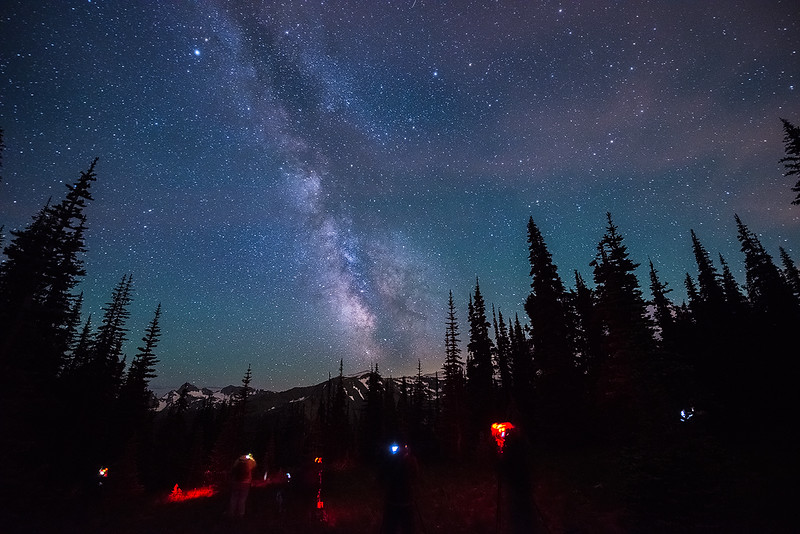 Shooting the night sky at Mount Rainier with my Night Skies of the Pacific Northwest Tour group