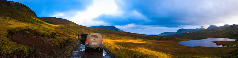 Driving into the East Fjords - Iceland - October 2015