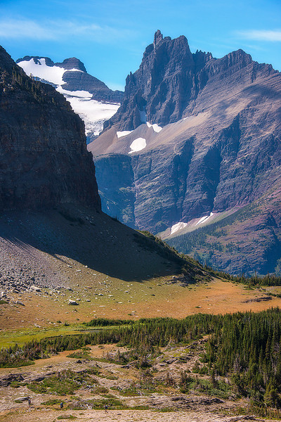 Backpacking in Glacier National Park, Montana