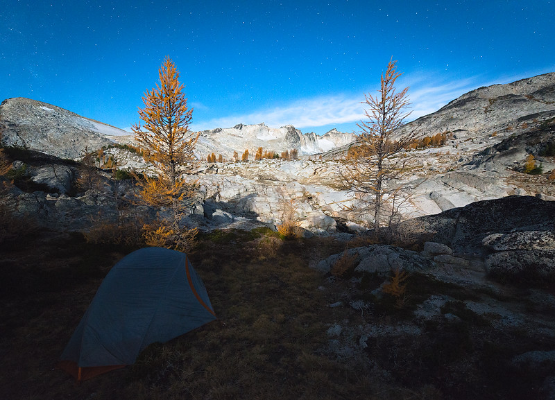 Moonrise in the Enchantments - October 2014