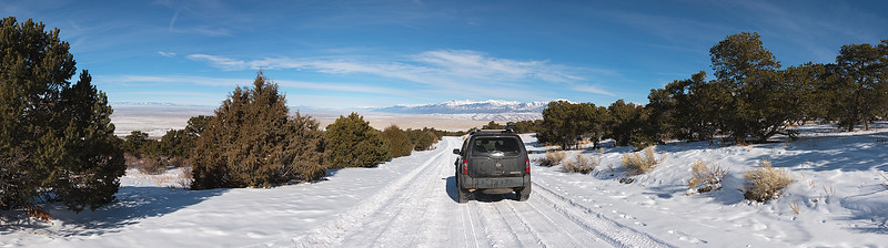Driving into the Great Sand Dunes National Park, Colorado - January 2016
