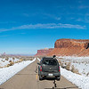 Driving into Canyonlands National Park, Utah - January 2016