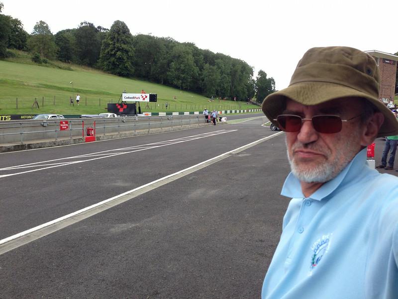 Pit lane at Cadwell Park