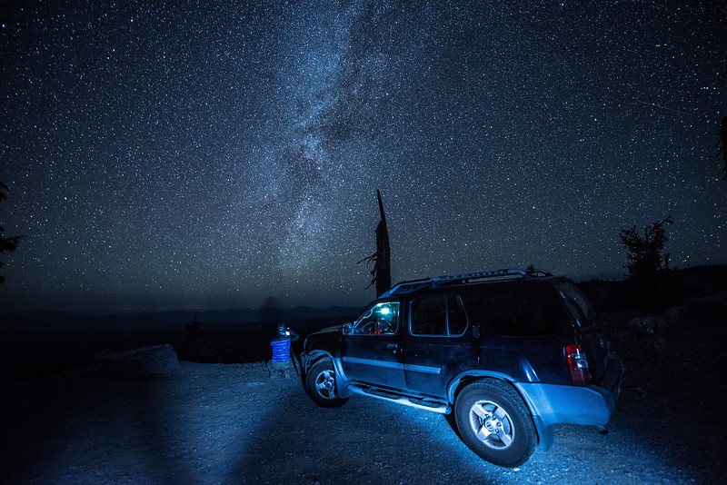 Greg capturing the Milky Way @ Crater Lake Oregon